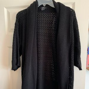 Black sweater cardigan